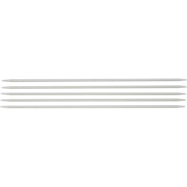 Strømpepinde, nr. 3, L: 20 cm, metal 5 stk