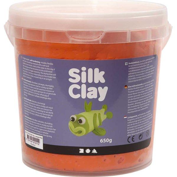 Silk Clay Modellervoks, 650 g, orange