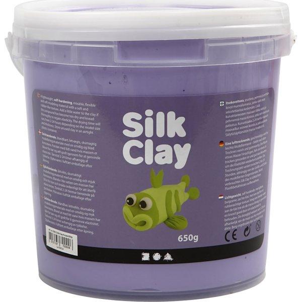 Silk Clay Modellervoks, 650 g, lilla