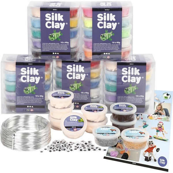 Silk Clay Modellervoks Klassesæt, fantasi