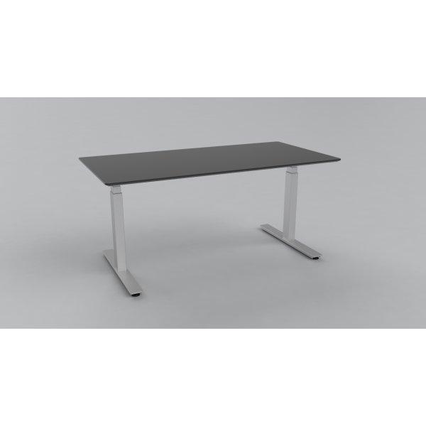 Cube Design Flow hæve/sænkebord 160x80, alu/sort