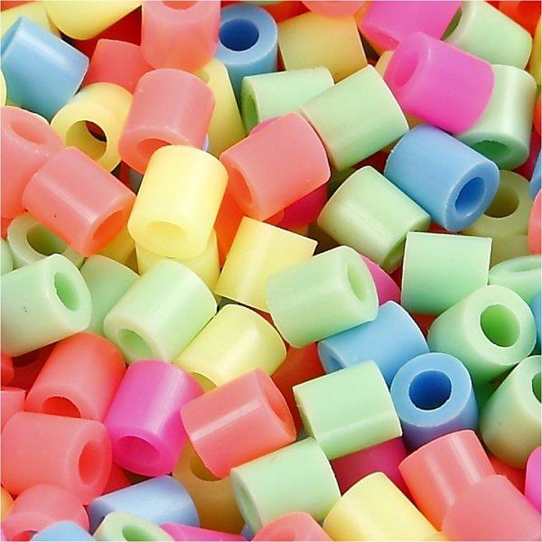 Nabbi Rørperler, 20000 stk, pastelfarver