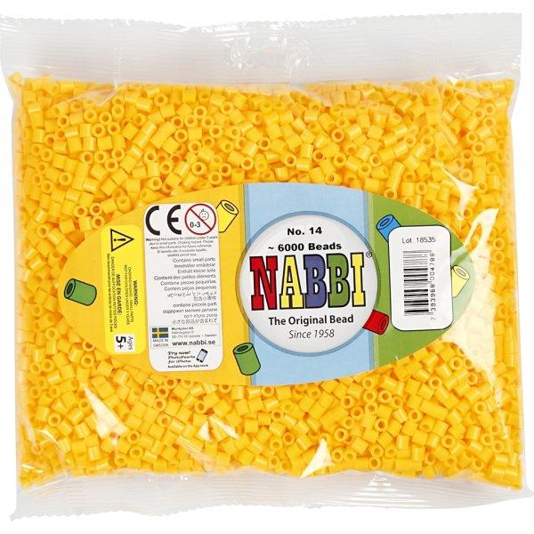 Nabbi Rørperler, 6000 stk, gul (14)