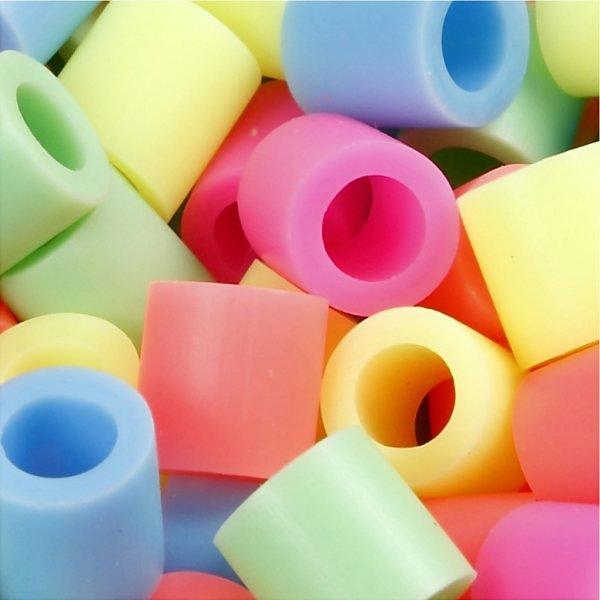 Nabbi Jumbo Rørperler, 1000 stk, pastelfarver