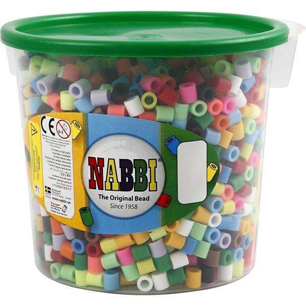 Nabbi Jumbo Rørperler, 2450 stk, ass. farver