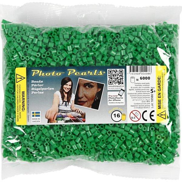 Photo Pearls Rørperler, 6000 stk, grøn (16)