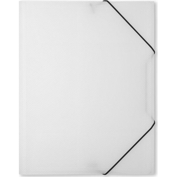 DocuSmart elastikmappe A4, PP, klar/hvid