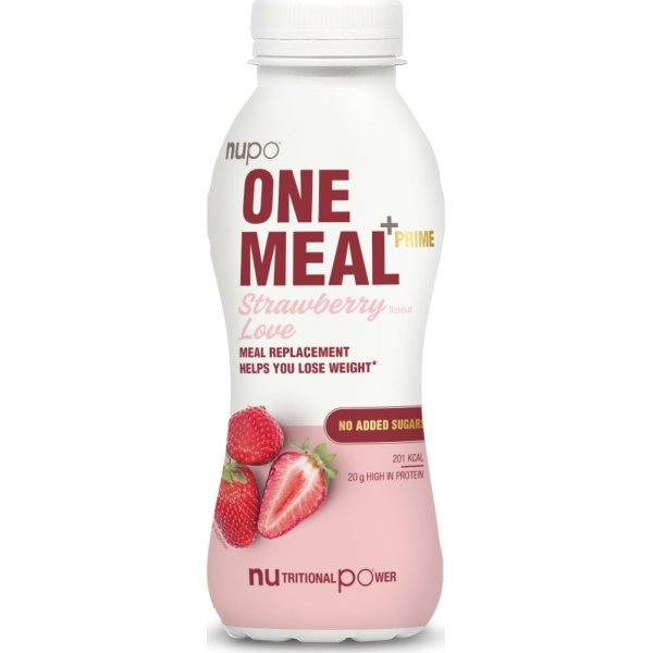 Nupo One Meal +Prime RTD Shake Stawberry, 330 ml