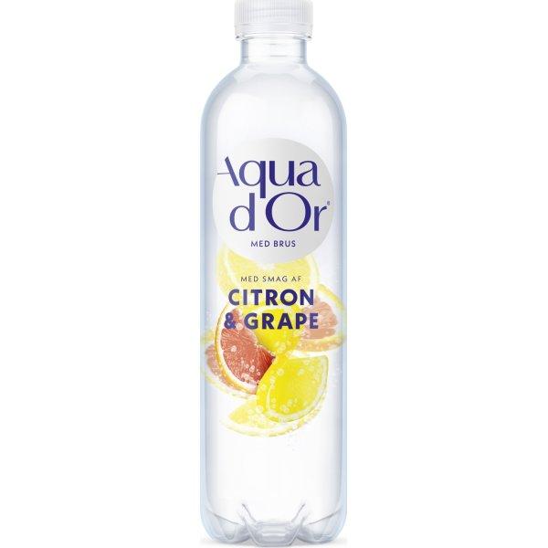 Aqua d'or vand m. brus citron & grape 0,5 L