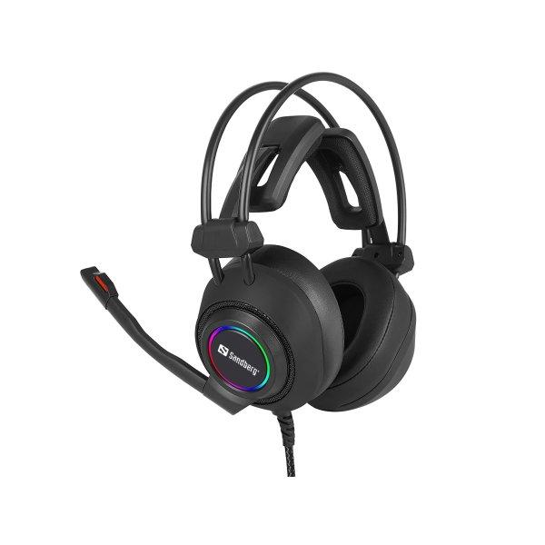 Sandberg Savage USB 7.1 headset, sort
