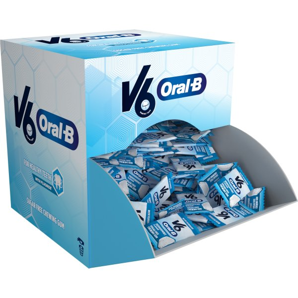 V6 Oral-B Tyggegummi ca. 170 pakker á 1 stk. 1,7 g
