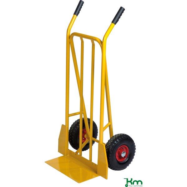 Sækkevogn ekstra stor bæreplade, lufthjul, 250 kg
