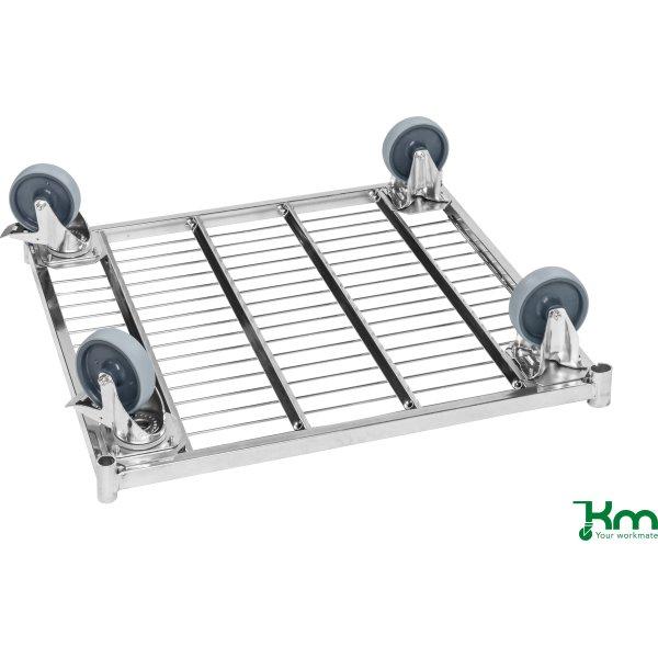 Udbytning hjulsæt til 2 dreje med bremse, 125 mm