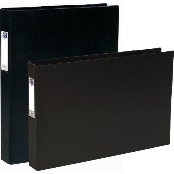 Elba Ringbind A3, højformat, sort