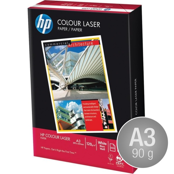 HP ColourLaser papir, A3/90g/500ark