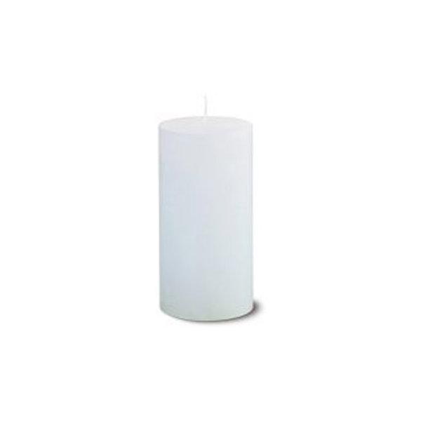 Hvide rustikke bloklys, 68x130 mm