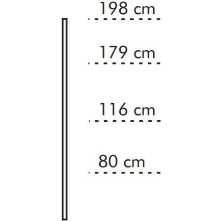 ABC bagstolpe til hjørnehylde, hvidlaseret