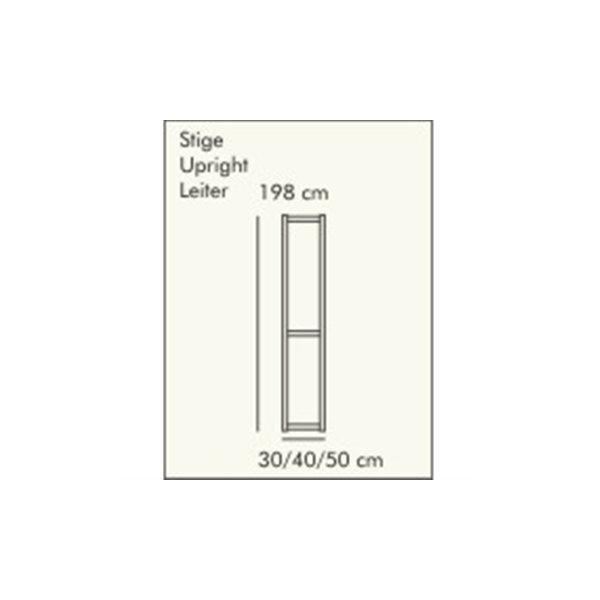 ABC Reolstige HxD: 198x30 cm, hvidlaseret