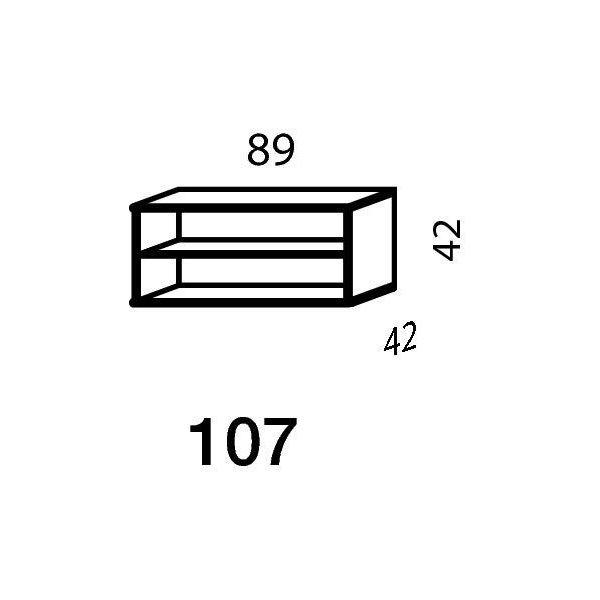 Mistral sektion 107 Reol åben light bøg