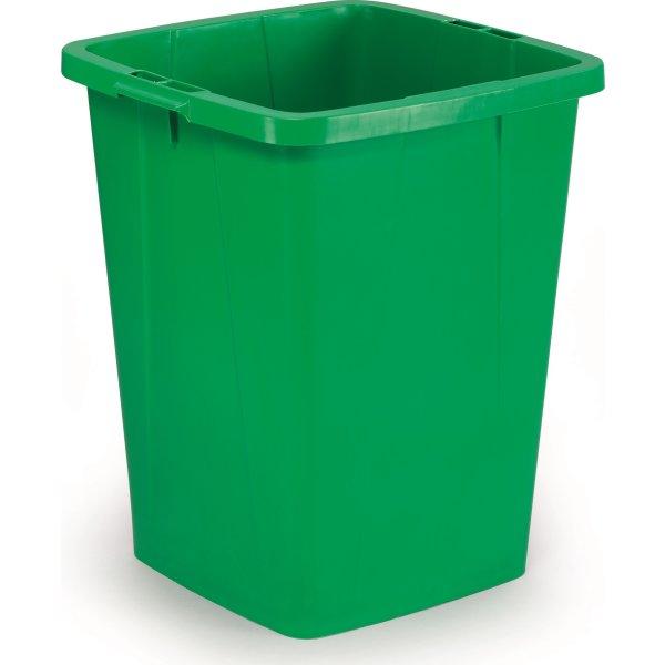 Affaldsspand 90 l, 510x487x630, Grøn