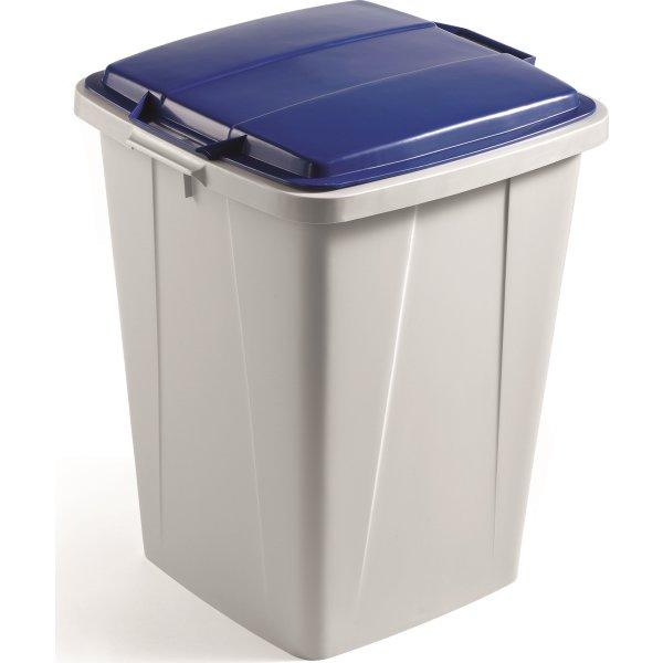 Låg affaldsspand 90 l, Blå