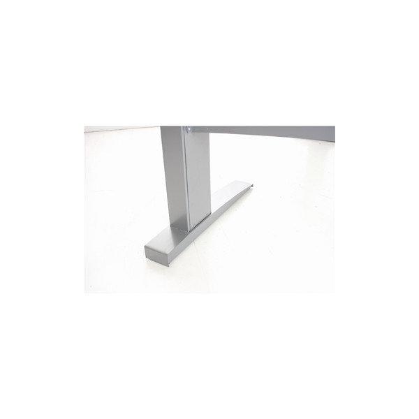 Easy stand 160 hæve/sænkebord højre, bøg/alu