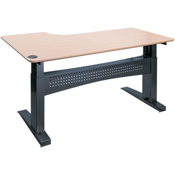 Easy stand 200 hæve/sænkebord højre, bøg/sort