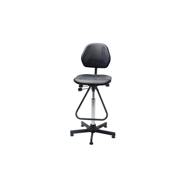Comfort arbejdsstol, formstøbt PU skum, fodbøjle