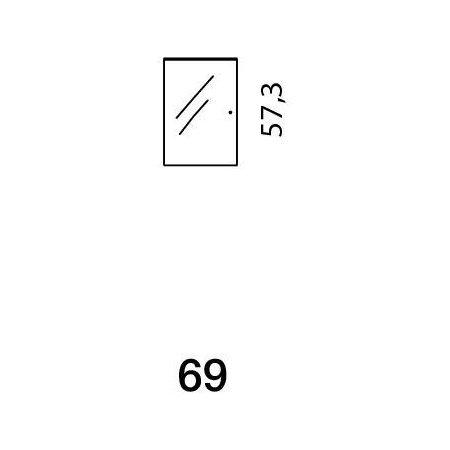 Mistral sektion 069 Glaslåge klar
