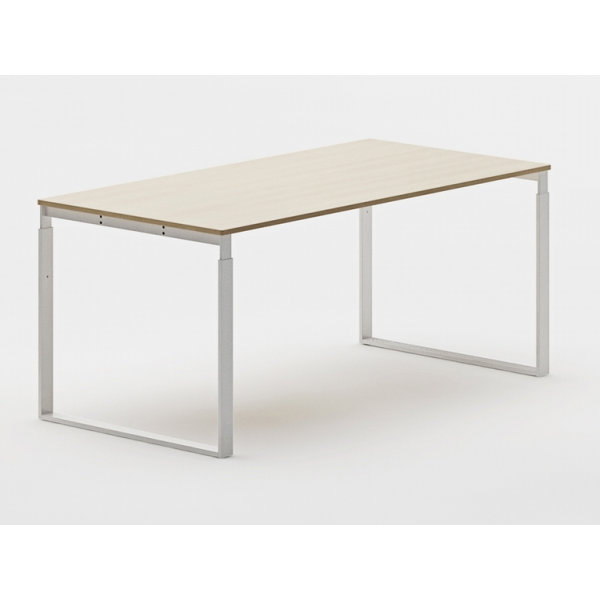 Frame bord 80x120 cm rekt. Alu stel/ bøg finer