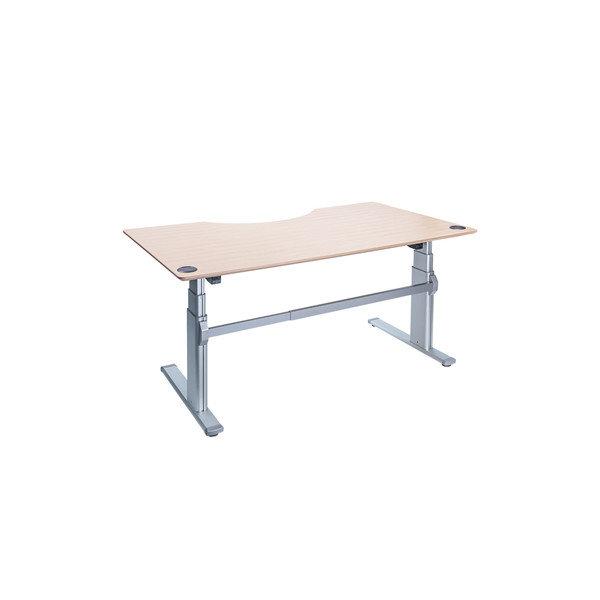 Fly hævesænkebord 180 cm centerbue ahorn 72-118 cm