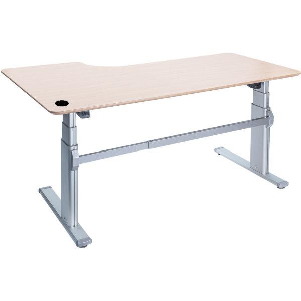 Fly hævesænkebord 200 cm højre ahorn 72-118 cm