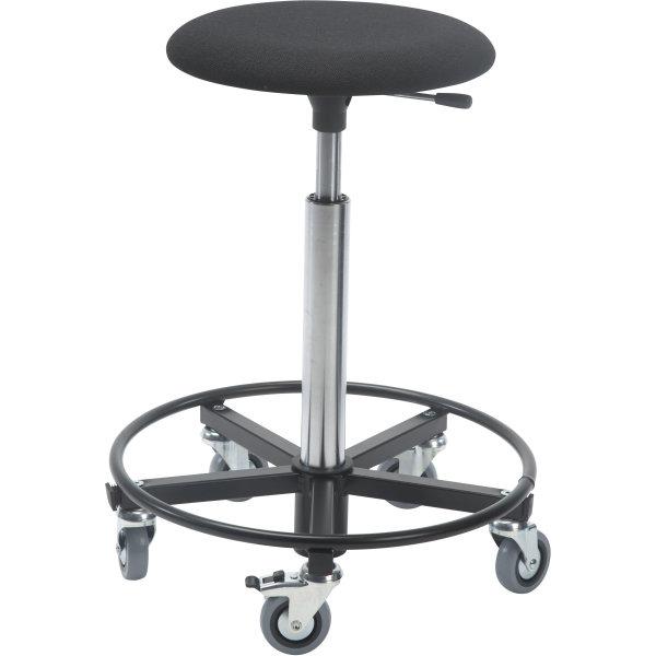 Montørstol m/ fodring, polstret sæde, sort