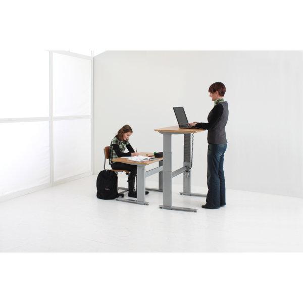 Flexo hævesænkebord 80x200 cm rekt. bøg