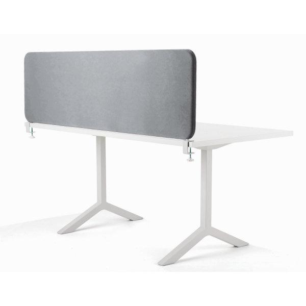 Softline bordskærmvæg grå B1400xH450 mm