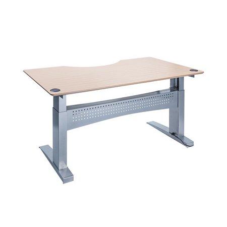 Easy stand 160 hæve/sænkbord centerbue, ahorn/alu