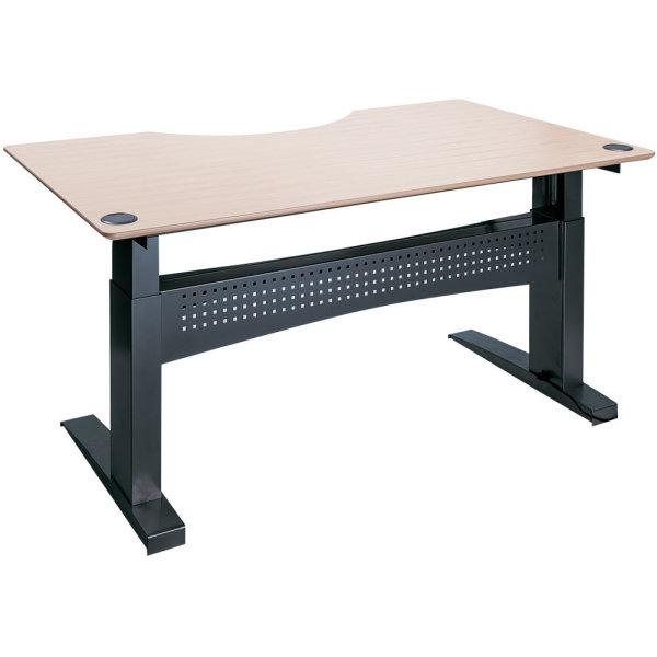 Easy stand 200 hæve/sænkebord centerbue,ahorn/sort