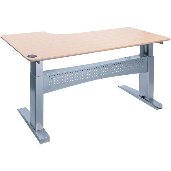 Easy stand 180 hæve/sænkebord højre, bøg/alu