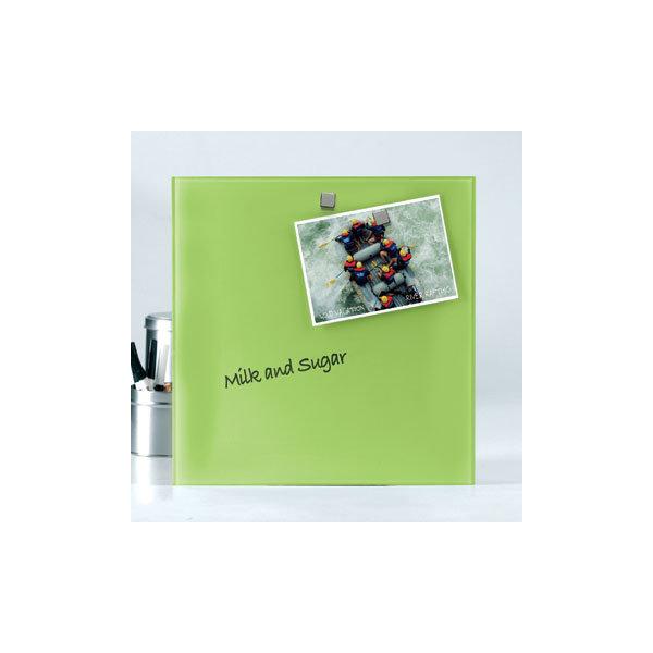 Glassboard magnetisk glastavle 45 x 45 cm, grøn