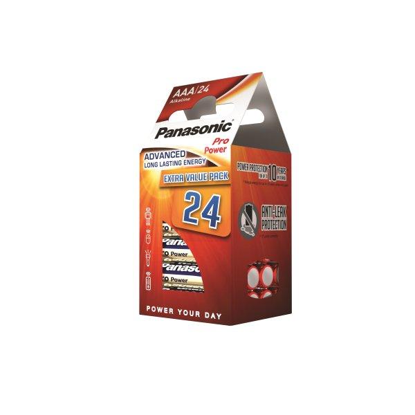 Panasonic str. AAA Pro Power Gold batteri. 24 stk