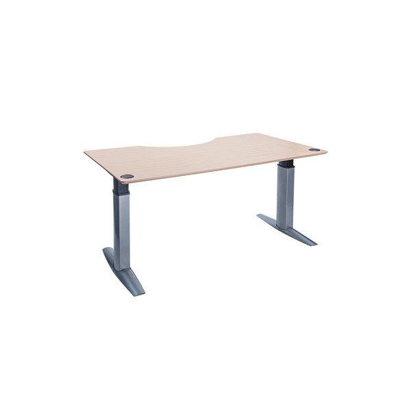 Goliath hæve/sænkebord centerbue 200 cm Ahorn/alu