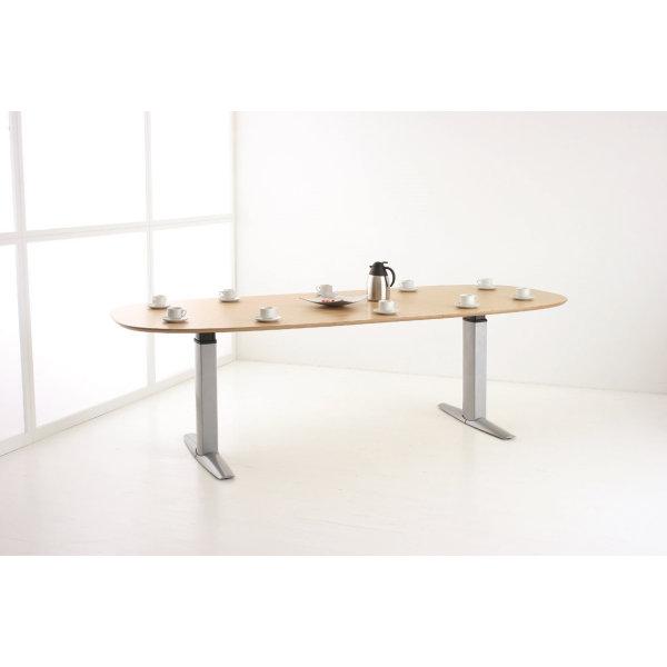 Goliath hæve/sænkebord venstre 200 cm ahorn/alu