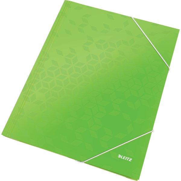 Leitz WOW elastikmappe, lime
