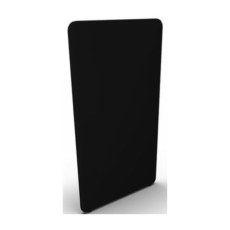 Abstracta softline skærmvæg sort B80xH150 cm