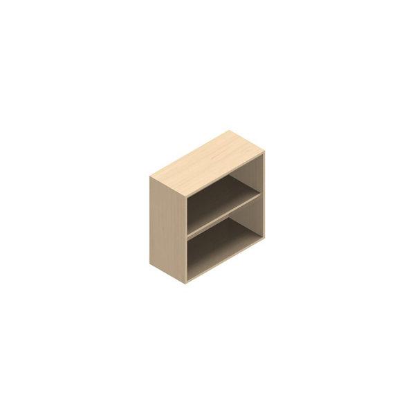 Jive reol m/2 rum birk finer, til vægmontering D42