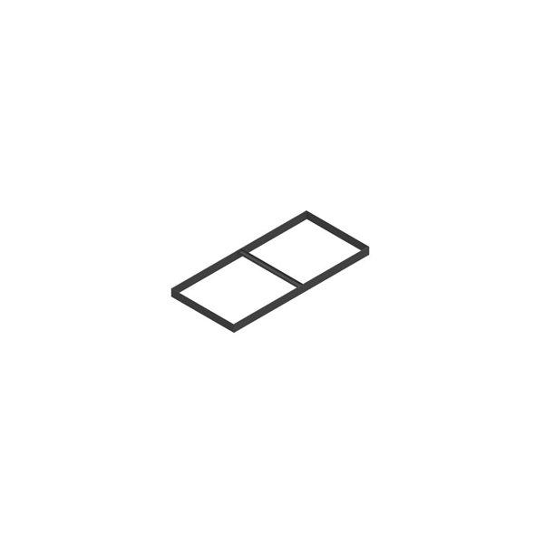 Jive arkivramme 2xA4 sort (kun til dybde 42 cm)