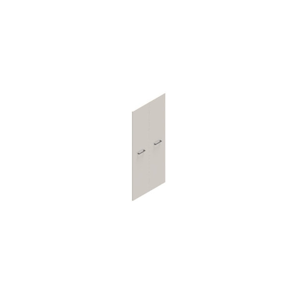 Jive lågesæt t/5 rum m/lås hvid dekor laminat
