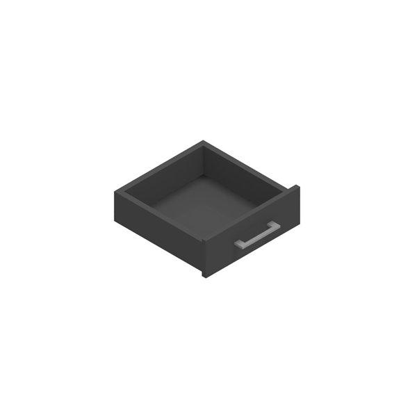 Jive+ enkelskuffe m/lås antracit decor laminat D42