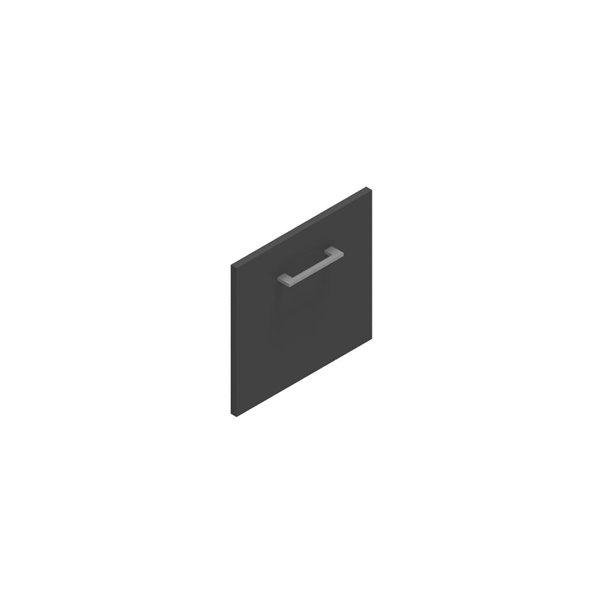 Jive+ låge t/1 rum i højden m/lås antracit decor