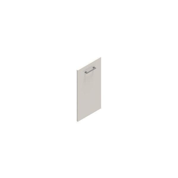 Jive+ låge t/2 rum i højden m/lås hvid decor lam.